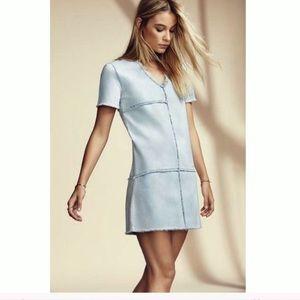 1 State Medium Denim Patch Jean Dress Mini